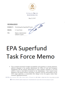 EPA Superfund task force memo thumbnail