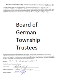 German Township Trustees Tremont City Resolution thumbnail