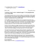 PfSW Press Release: March 9, 2015